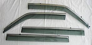 Nissan Patrol Y62 2010+ ветровики дефлекторы окон ASP с молдингом нержавеющей стали / sunvisors