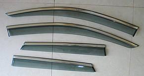 Renault Captur вітровики дефлектори вікон ASP з молдингом нержавіючої сталі / sunvisors