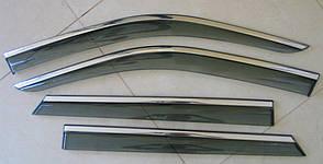 Skoda Fabia 3 ветровики дефлекторы окон ASP с молдингом нержавеющей стали / sunvisors