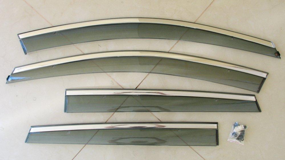 Volkswagen Polo Mk5 вітровики дефлектори вікон ASP з молдингом нержавіючої сталі / sunvisors
