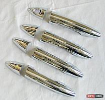 Hyundai Solaris Accent 2010+ накладки хром на дверные ручки тип W