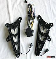 Toyota C-HR LED вставки ходовых огней DRL в передний бампер тип CP
