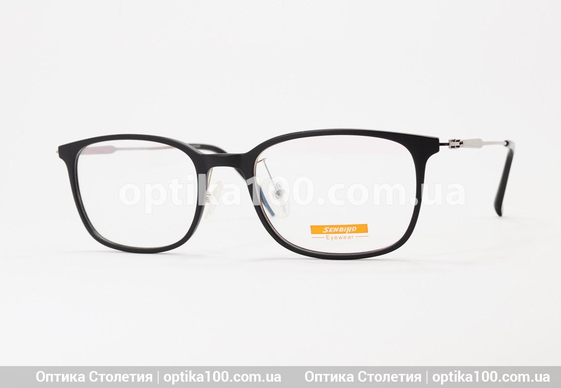 Чорна матова тонка оправа для окулярів. Легка. Металеві дужки
