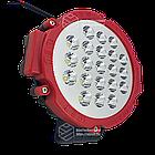 Фара LED круглая 63W (21 лампа) red, фото 7