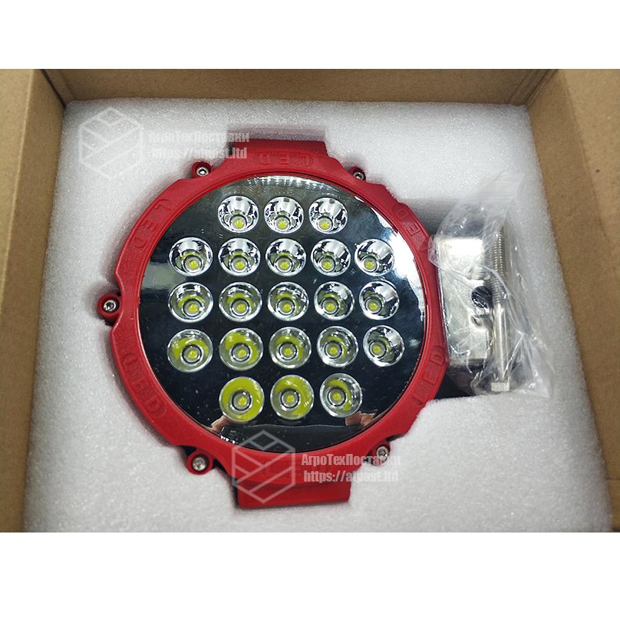 Фара LED круглая 63W (21 лампа) red