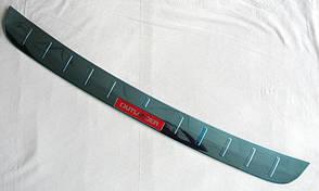 Mitsubishi Outlander 2015 накладка защитная на задний бампер тип C красная