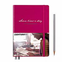 """Блокнот Leuchtturm1917 Memory Book 'Some lines a day"""" Середній А5 (14,5х21 см) Ягідний (359795), фото 1"""