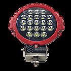 Фара LED круглая 63W (21 лампа) red, фото 6