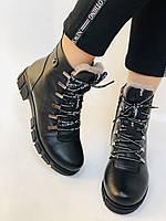 Натуральный мех. Люкс качество. Женские зимние ботинки. Натуральная кожа .Турция. Р.37-40., фото 6