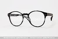 Круглая мужская оправа для очков. Имиджевые черные круглые очки, фото 1