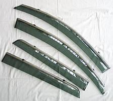 Nissan Qashqai J10 Mk1  ветровики дефлекторы окон ASP с молдингом нержавеющей стали / sunvisors