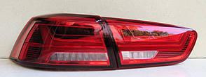 Mitsubishi Lancer X оптика задняя красная A6 стиль