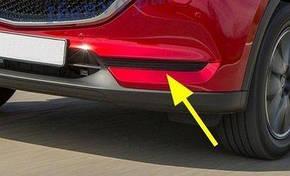Mazda CX-5 2017+ накладки хром на передний бампер без противотуманных фар, фото 2