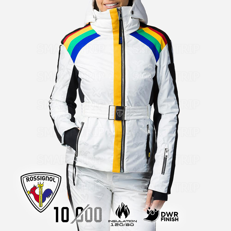 Горнолыжная куртка JCC x Rossignol W RAINBOW M 2021 белая (RLJWJ28-100-M)