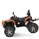 Дитячий квадроцикл M 4266 EBLR-7, шкіряне сидіння, колеса EVA, помаранчевий, фото 6