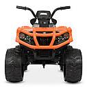 Дитячий квадроцикл M 4266 EBLR-7, шкіряне сидіння, колеса EVA, помаранчевий, фото 2