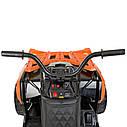 Дитячий квадроцикл M 4266 EBLR-7, шкіряне сидіння, колеса EVA, помаранчевий, фото 3