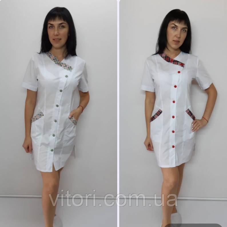 Женский медицинский халат Китай хлопок  короткий рукав