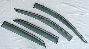 Lexus RX200 ветровики дефлекторы окон ASP с молдингом нержавеющей стали / sunvisors