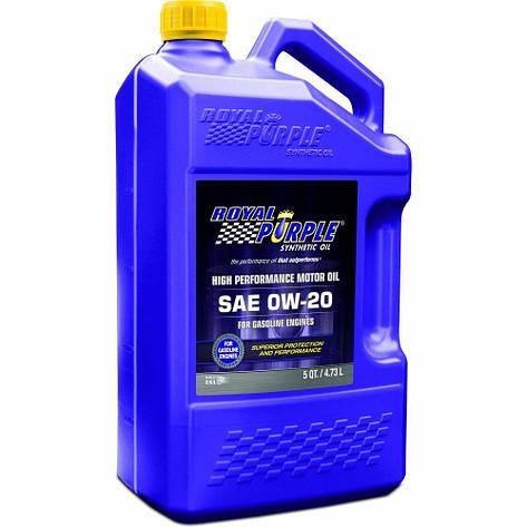Моторное авто масло Royal Purple API 0w-20 фасовка 4.73л /5 кварт / Royal Purple API motor oil 0W-20 5qt, фото 2