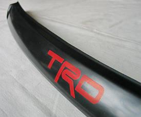 Toyota Hilux Revo 2014 накладка черная на кромку капота с TRD лого, фото 2