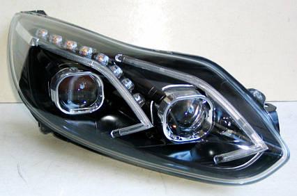 Ford Focus 3 2011+ оптика передняя альтернативная ксенон VW стиль BNZ, фото 2