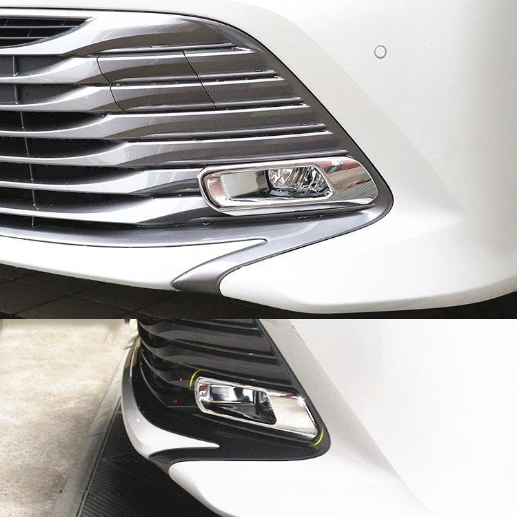 Toyota Camry XV70 2018+ хром накладки на передние противотуманные фары