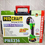 Аккумуляторная болгарка Procraft PWA 216 21v, фото 4
