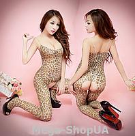 "Боди комбинезон ""Леопард"". Эротический бодистокинг S-M, фото 1"