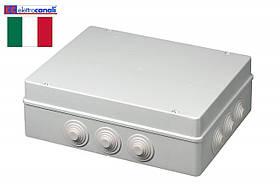 Коробка распределительная IP55 380x300x120 Elettrocanali EC400C9 (навесная, 12 сальников 32мм)