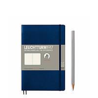 Блокнот Leuchtturm1917 М'яка обкладинка Paperback B6 (12,5х19 см) Темно-синій Крапка (358318), фото 1