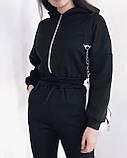 Комбинезон женский на флисе Цвета: черный,серый, фото 4