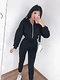 Комбинезон женский на флисе Цвета: черный,серый, фото 5