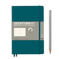 Блокнот Leuchtturm1917 М'яка обкладинка Paperback B6 (12,5х19 см) Тихоокеанський зелений Крапка (359679), фото 1