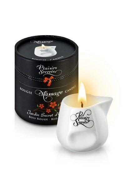 Массажная свеча Plaisirs Secrets Red Wood (80 мл) подарочная упаковка, керамический сосуд SO1859 код