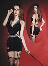 Еротичний костюм вчительки Вимоглива Джулія S/M, плаття, панчохи, трусики, окуляри, указка SO2293 код