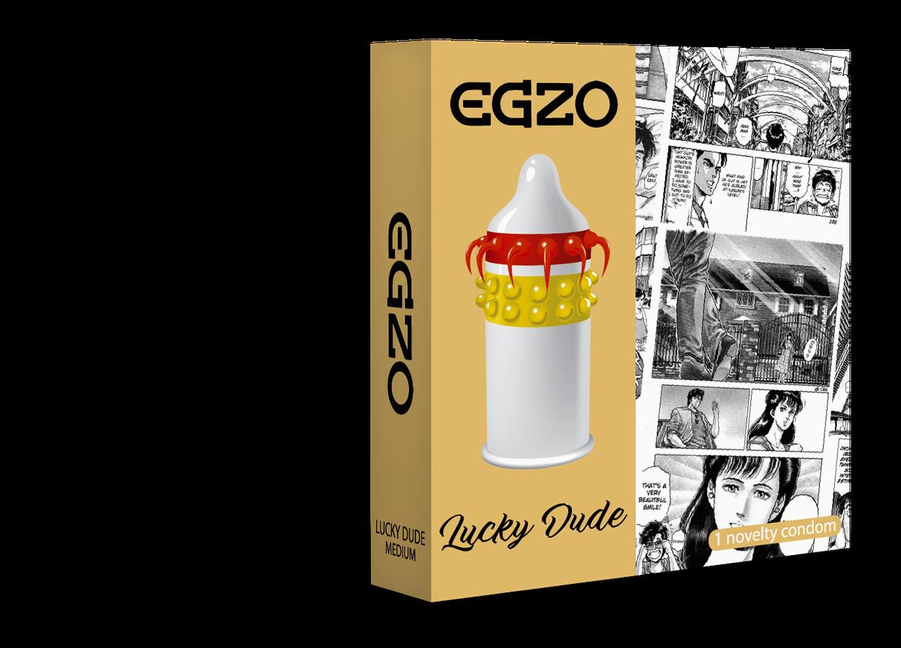 Насадка на член EGZO Lucky Dude (презерватив с усиками) SO2020