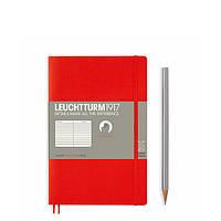 Блокнот Leuchtturm1917 М'яка обкладинка Paperback B6 (12,5х19 см) Червоний Лінія (358296), фото 1
