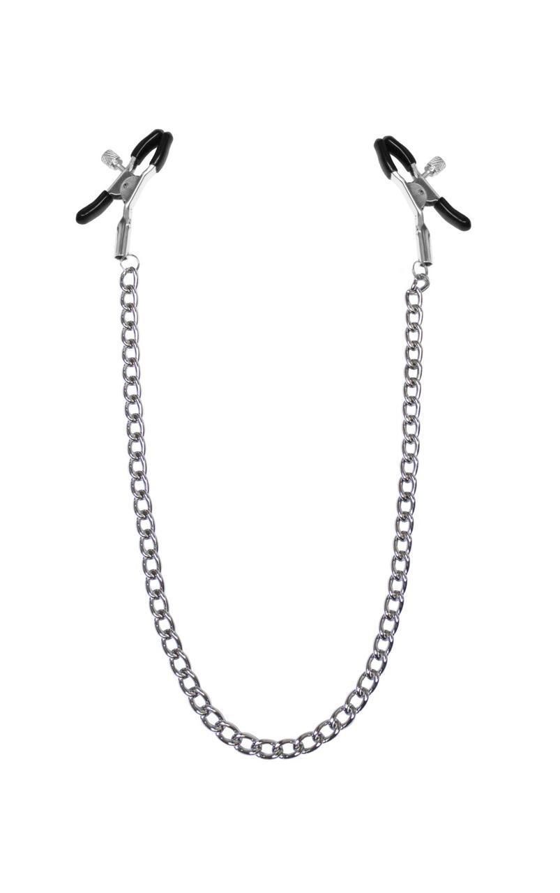 Зажимы для сосков с цепочкой Feral Feelings - Nipple clamps Classic, серебро/черный SO3786 код