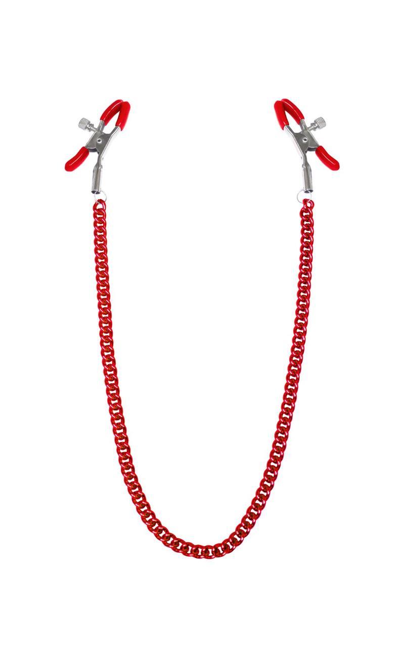 Зажимы для сосков с цепочкой Feral Feelings - Nipple clamps Classic, красный SO3788