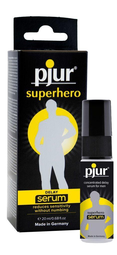 Пролонгує гель pjur Superhero Serum 20 мл, створює невидиму плівку знижує чутливість PJ12090