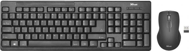 Комплект бездротової клавіатура, миша Trust Ziva UKR (22119) Black USB