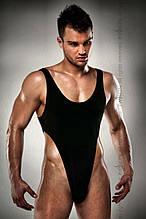 Чоловіче боді з високим вирізом стегна Passion 010 BODY black L/XL PSM0101 код