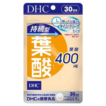 DHC Фолієва кислота 400 мкг повільного вивільнення, 30 таблеток на 30 днів