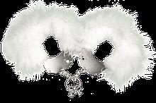 (мятая упаковка) Наручники металлические с белой отделкой Adrien Lastic Handcuffs White AD30310-R код