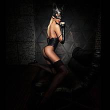 """Еротичний костюм кішечки """"Грайлива Стефані"""" XS/S, боді, рукавички, без маски SO2853 код"""