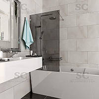 Стеклянная шторка на ванной