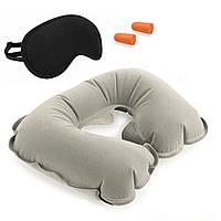 Дорожный набор для сна 3 в 1 маска беруши подголовник Travel Selection (R82824)