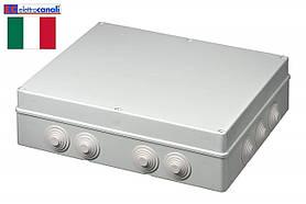 Коробка распределительная IP55 460x380x120 Elettrocanali EC400C10 (навесная, 14 сальников 32мм)