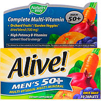Nature's Way, Alive! Men's 50+ Complete Multi-Vitamin, 50 Tablets, фото 1